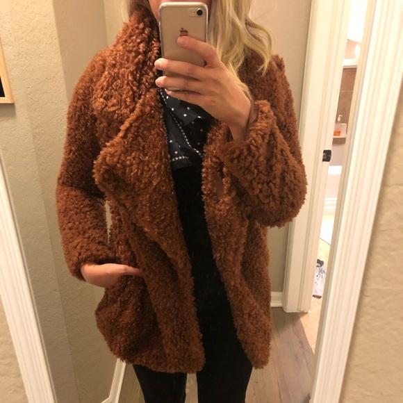 97e2f41840e2 Audrey 3+1 Jackets & Blazers - Faux fur furry teddy bear jacket coat NWOT